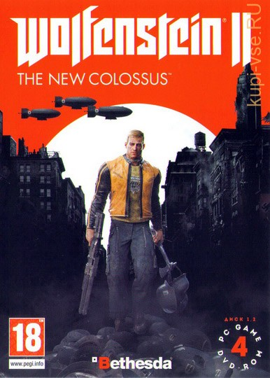 WOLFENSTEIN 2: THE NEW COLOSSUS (ОЗВУЧКА) [4DVD]